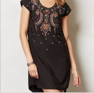 Beaded Anthropogie tunic dress
